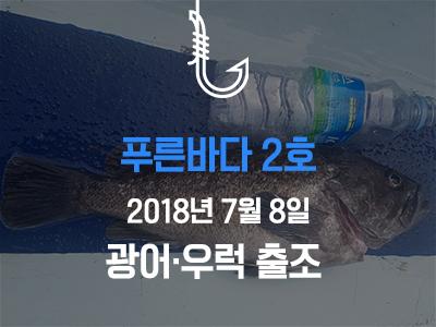 [푸른바다2호] 7월 8일 조황소식입니다!